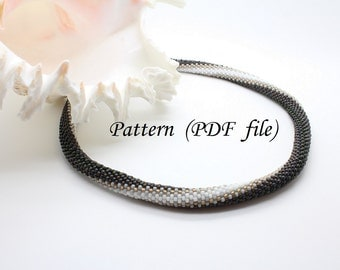 "Beading Tutorial Bead Crochet Pattern ""Gertrude"", Crochet Bracelet Pattern,  Beaded Rope, Tubular Bead Pattern, Beaded Tutorial Pdf, Snake"
