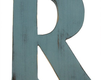 Letter R  Wall Letter Wood Sign Wall Decor Rustic Americana Chic Wedding Photo Prop Nursery Kids Decor Large Letter R