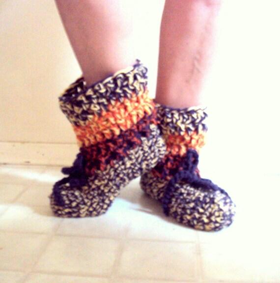 Chunky Bootie Slippers Crochet Slippers Slipper Sock Easy On
