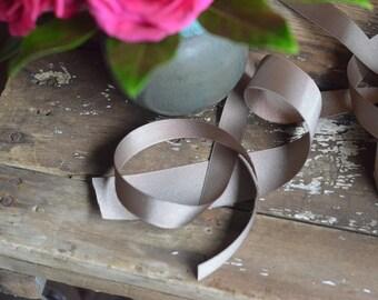 taupe grosgrain ribbon