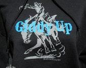 Western Hoodie, Bucking Horse T Shirt,FREE shipping, Western Screen Print Hoodie