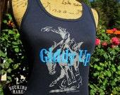 Western Tank Top, Bucking Horse T Shirt,FREE shipping, Western Screen Print Tank Top