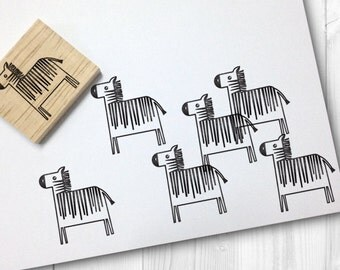 zebra rubber stamp - FREE SHIPPING WORLDWIDE*