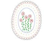 Embroidery Pattern Flowers Digital Downloadable PDF 0010