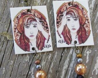 Too Much Earrings ~ Original Artwork BY Rebecca Jerahian