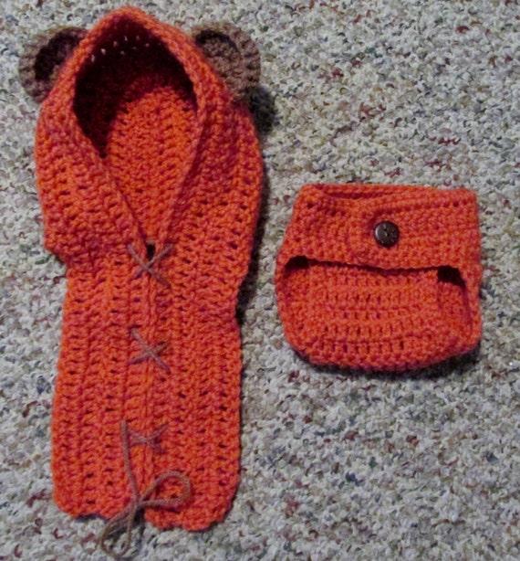 Ewok Hat: Crochet Newborn Star Wars Inspired Ewok Hat By
