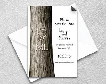 Save the Date Magnet + Envelope - Wedding magnets - Forever Yours Design