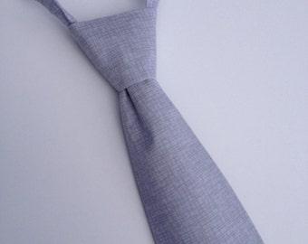 Boys Neck Tie, Infant Tie, Toddler Tie, Gray Neck Tie