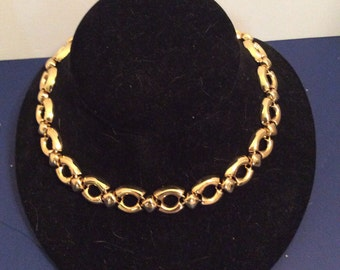 Gold toned necklace (adjustable) 16 to 19 inches