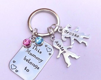 Personalised gift for mum - personalised keyring for mum - birthday gift for mum - mum keyring - mummy gift - new mummy gift - mum present