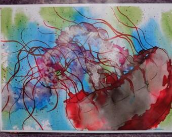 Inky Jellyfish Print