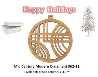 962-11 Mid Century Modern Christmas Ornament