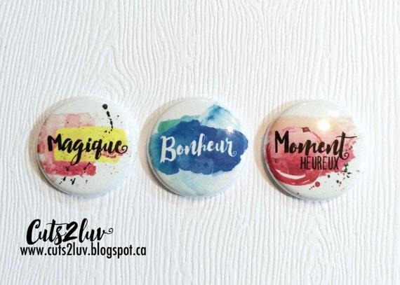 """3 Badges 1"""" Magique"""