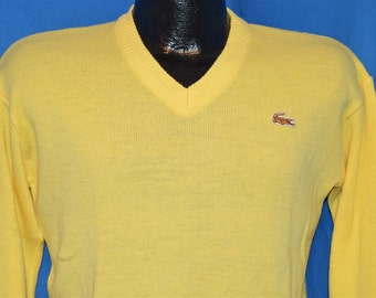 70s Izod Lacoste J.G. Yellow Vintage Pullover Sweater Youth Large