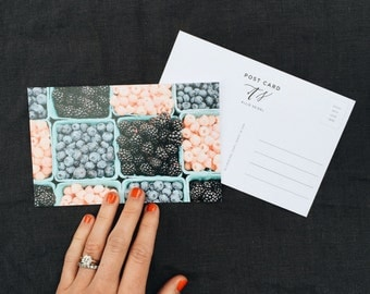 Post Card | Berries | Pack of 5 | 100% Recycled