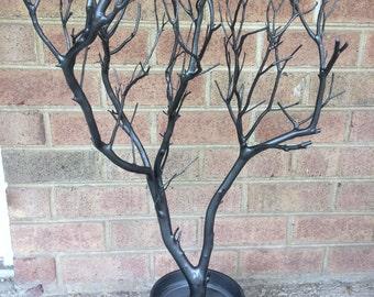 32 inch dark grey Manzanita Jewelry Tree