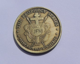 Vintage Commemorative Coin Jerry Falwell Ministries Prophecy Series Bronze