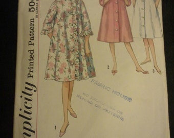 50s robe house coat Simplicity vintage pattern 4708 Size 12