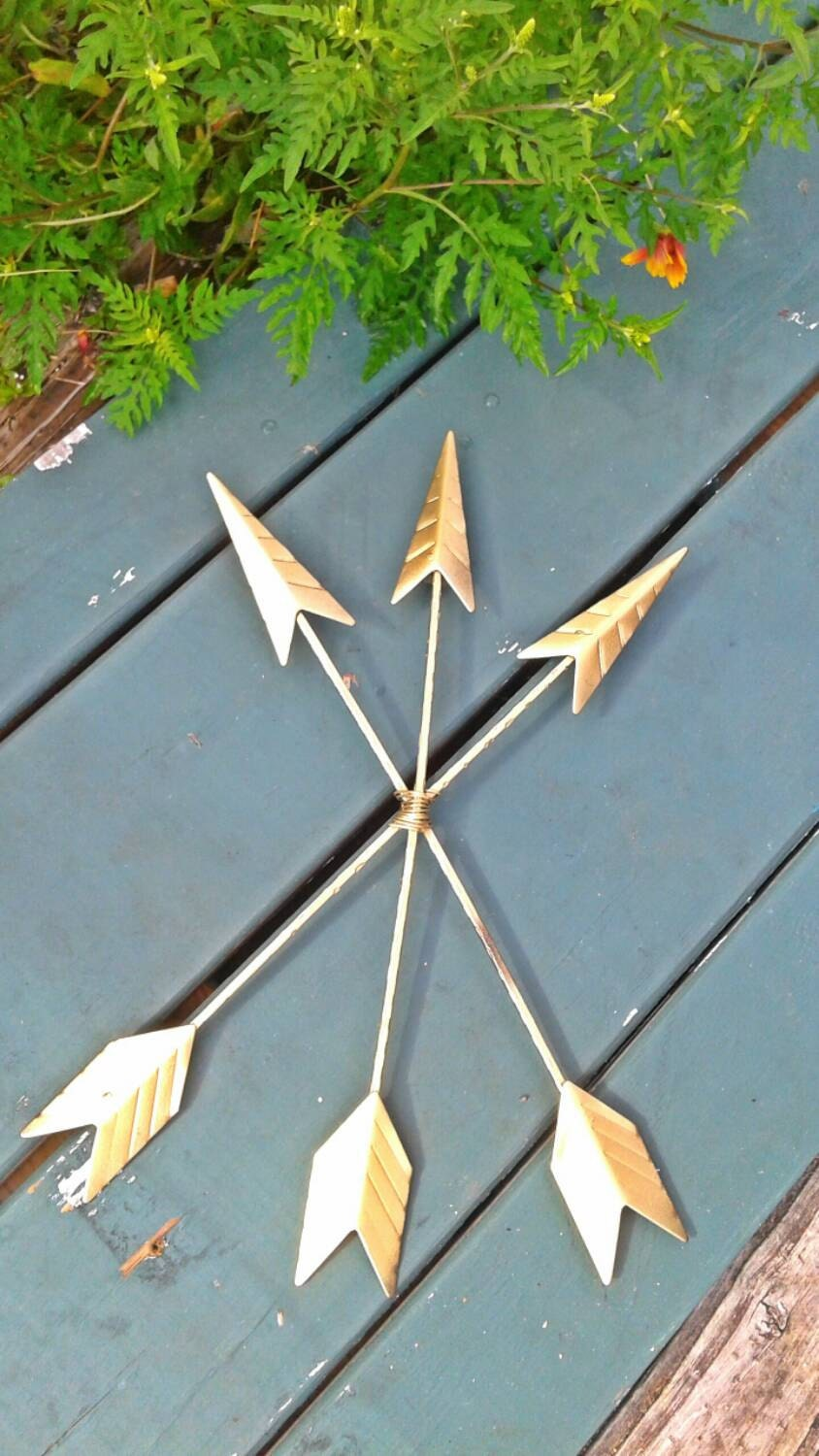 Arrows For Wall Decor : Arrow wall decor golden by surfandsunboutique