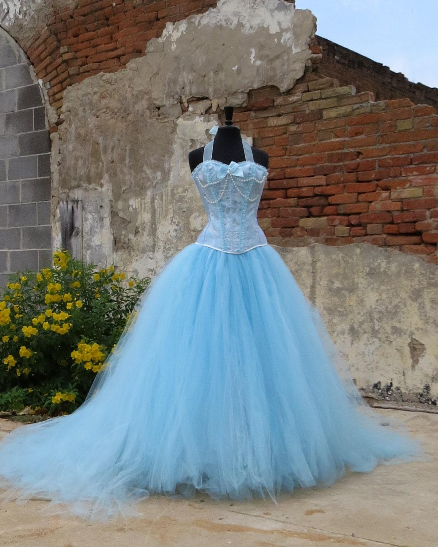 Adult Cinderella Costume Skirt Bridal Length Tulle Skirt For