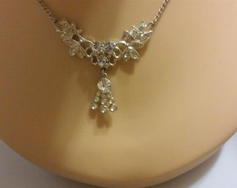 Clear Rhinestone Choker Necklace
