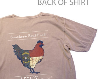 North Carolina Southern Soul Food Chicken Tee Assorted
