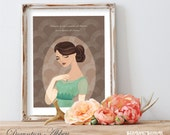 CLEARANCE Sale!! -Downton Abbey's Lady Sybil Branson Inspired Archival Art Print