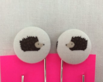 Hedgehog Covered Button Giant Paperclip, Bookmark, Organizer Clip