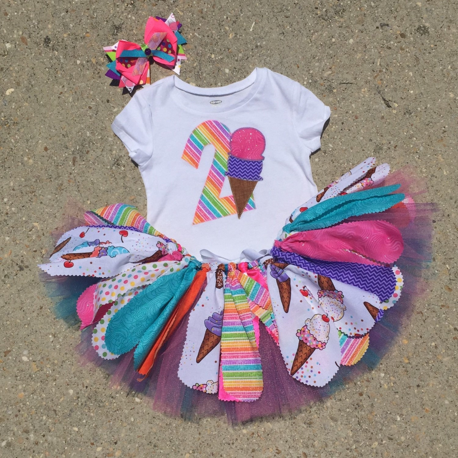 Ice Cream Birthday Tutu outfit ice cream party outfit by LilNicks
