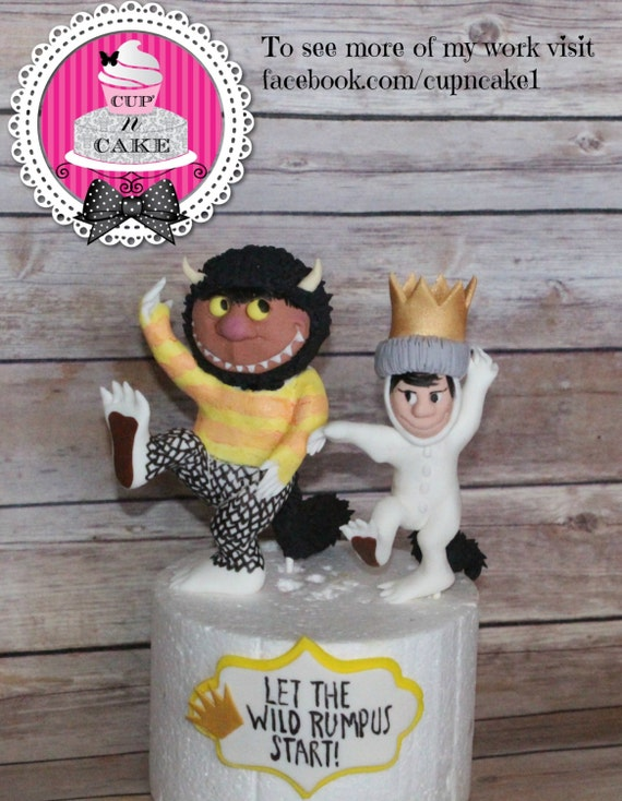 Where The Wild Things Are Fondant Cake Toppers