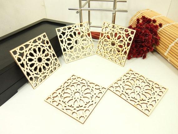 Ensemble de 5 carreaux marocain design laser cutunfinished for Acheter set de table