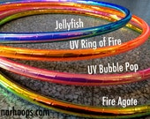 """Mini Hoops 5/8"""" Polypro Build Your Own Taped Hula Hoops - DIY Taped Polypro Pair of Twin Mini Hoops of 5/8"""" UV PP"""