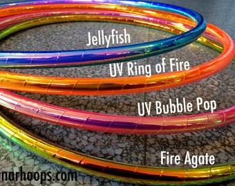 "Mini Hoops 5/8"" Polypro Build Your Own Taped Hula Hoops - DIY Taped Polypro Pair of Twin Mini Hoops of 5/8"" UV PP"