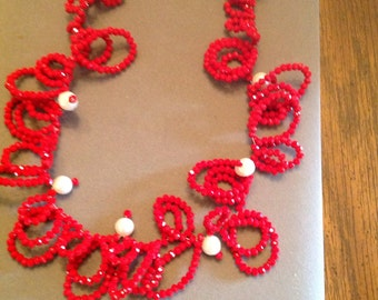 Necklace Swarovski Crystals Fresh Water Pearls magnet Clasp Necklace
