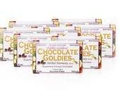 16 Bar Bulk Discount, Raw Vegan Superfood Herbal CHOCOLATE GOLDIES - Adaptogenic, Hormone Balancing, Aphrodisiac Sensual Chocolate Love Bars