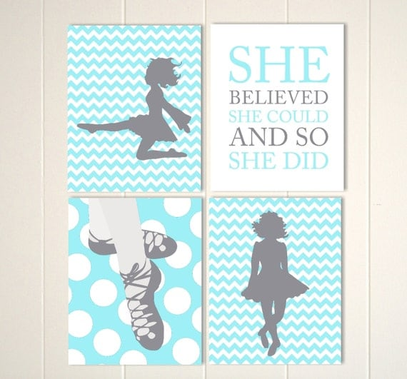 Irish dance wall art irish dancer teen girl room decor for Irish bedroom designs