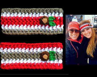 Ohio State Headband Buckeyes Ear Warmer Womens