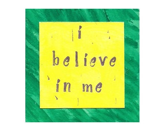 I Believe In Me - Inspirational Watercolour 1-Pane Card