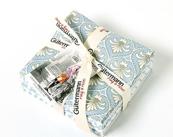 FQ Pack - Gutermann French Cottage 1 Fabric FQ Collection - 5 x fat quarters cotton fabric collection. Gift pack for Crafty friend Christmas