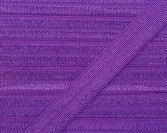3/8 PURPLE Fold Over Elastic 5 or 10 Yards