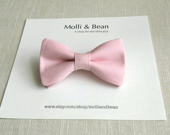 FREE SHIPPING!*...Newborrn, Toddler Boys bow tie, Wedding bowtie, Ring bearer bowtie, Pink bow tie, Clip on bow tie, Easter bowtie