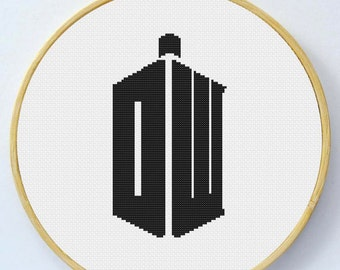Dr Who Cross Stitch Pattern - Instant Download