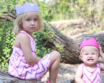 Felt Crown, Your choice of color, Princess Crown, Birthday Crown, Party Hat, Princess Birthday, Party Favor