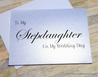 Wedding Thank You Cards - Stepdaughter Wedding Card - To My Stepdaighter on My Wedding Day Card - Stepchildren Wedding Day Card