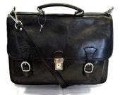 Briefcase leather office bag backpack shoulder bag conference bag mens business bag leatherbag black