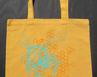 Honeybee Canvas Tote Bag