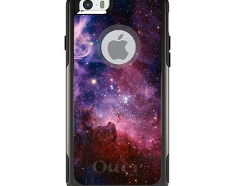 OtterBox Commuter for Apple iPhone 5S SE 5C 6 6S 7 8 PLUS X 10 - Custom Monogram - Any Colors - Purple Pink Carina Nebula