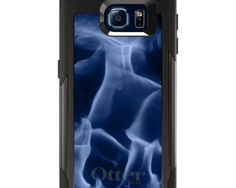 OtterBox Commuter for Galaxy S4 / S5 / S6 / S7 / S8 / S8+ / Note 4 / 5 - CUSTOM Monogram - Any Colors - Blue Black Flame Fire