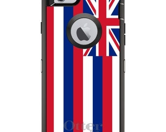 CUSTOM OtterBox Defender Case for Apple iPhone 6 6S 7 8 PLUS X 10 - Personalized Monogram - Hawaii State Flag