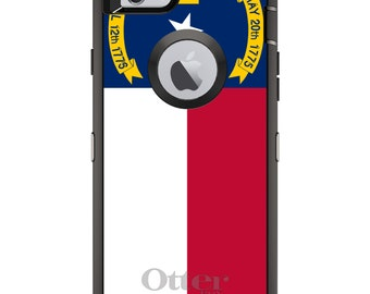 CUSTOM OtterBox Defender Case for Apple iPhone 6 6S 7 8 PLUS X 10 - Personalized Monogram - North Carolina State Flag